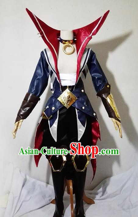 Chinese Traditional Cosplay Knight Costume Ancient Swordsman Clothing for Men