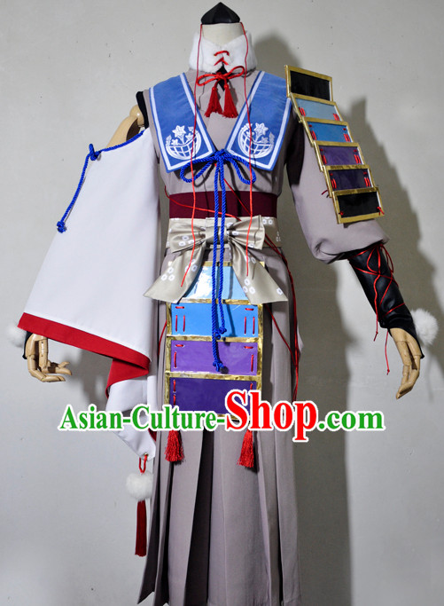 Chinese Traditional Cosplay Princess Knight Grey Costume Ancient Fairy Swordsman Dress for Women