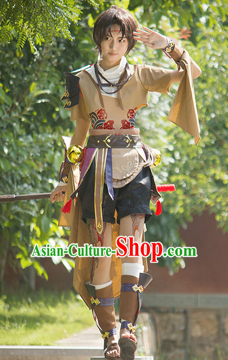 Top Grade Cosplay Killer Costume Ancient Swordsman Young Knight Clothing for Men