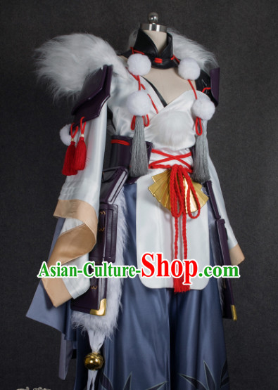 Chinese Traditional Cosplay Wizard Costume Ancient Fairy Swordsman Dress for Women