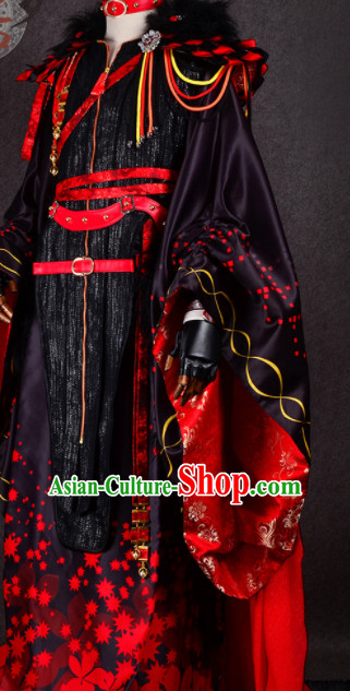 Chinese Traditional Cosplay Royal Highness Wedding Costume Ancient Swordsman Hanfu Clothing for Men