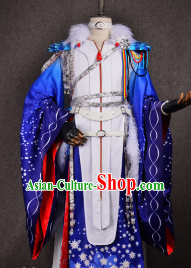 Chinese Traditional Cosplay Royal Highness Costume Ancient Swordsman Hanfu Clothing for Men