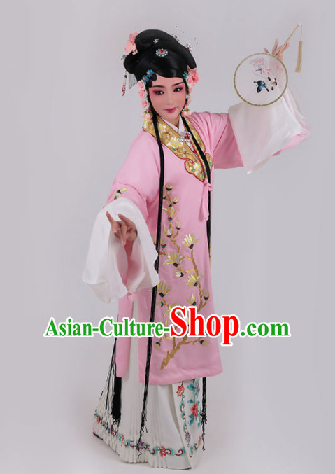 Chinese Traditional Peking Opera Actress Princess Pink Dress Ancient Court Lady Embroidered Costume for Women
