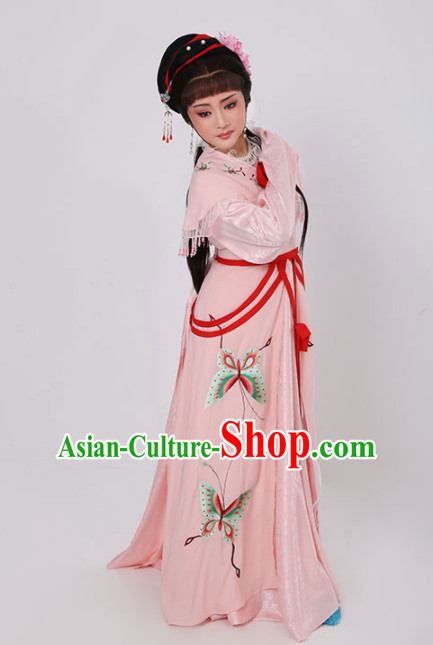 Chinese Traditional Peking Opera Actress Pink Dress Ancient Nobility Lady Embroidered Costume for Women