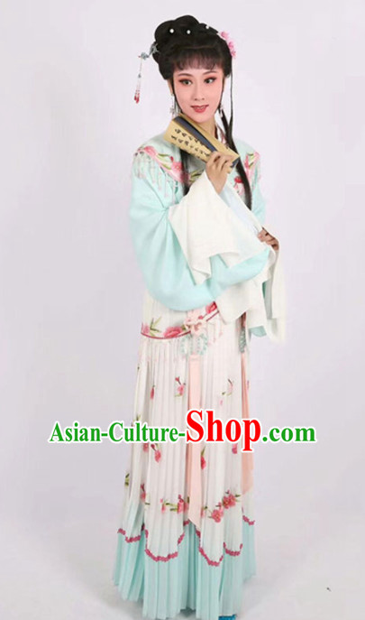 Chinese Traditional Peking Opera Actress Embroidered Dress Ancient Peri Princess Costume for Women