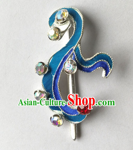 Chinese Ancient Court Princess Pteris Hairpins Traditional Beijing Opera Diva Hair Accessories for Adults