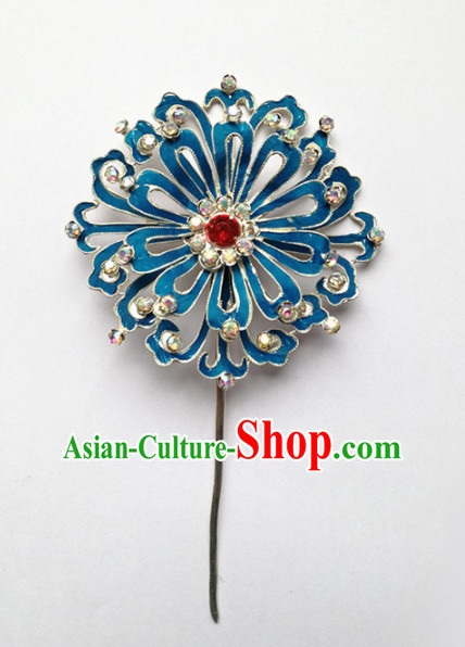 Chinese Ancient Court Princess Flowers Hairpins Traditional Beijing Opera Diva Hair Accessories for Adults