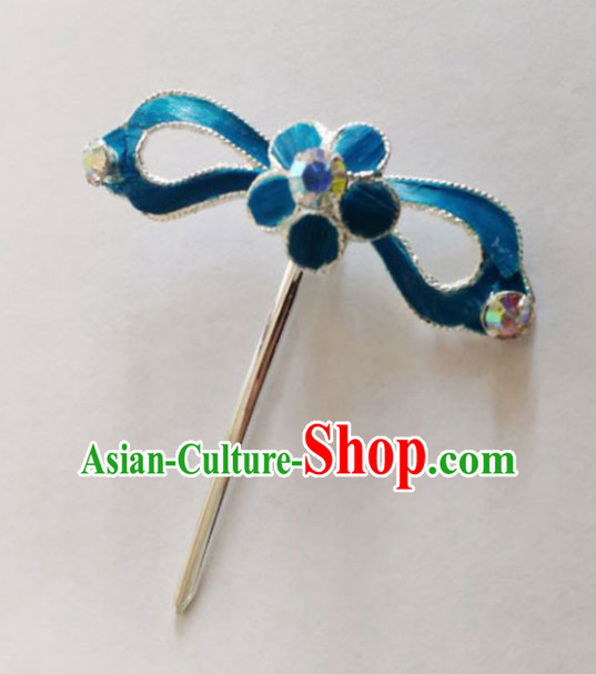 Chinese Ancient Court Princess Plum Hairpins Traditional Beijing Opera Diva Hair Accessories for Adults