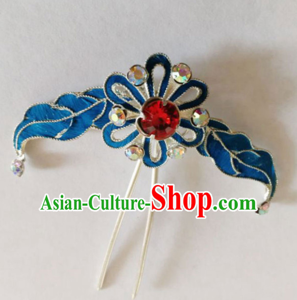 Chinese Ancient Court Princess Grass Hairpins Traditional Beijing Opera Diva Hair Accessories for Adults