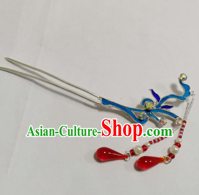 Chinese Ancient Court Princess Hairpins Tassel Step Shake Traditional Beijing Opera Diva Hair Accessories for Adults