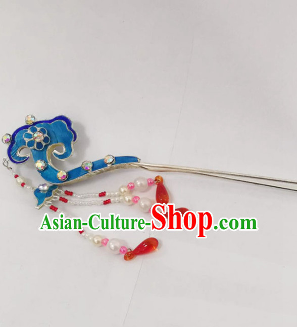 Chinese Ancient Court Princess Auspicious Clouds Hairpins Traditional Beijing Opera Diva Hair Accessories for Adults