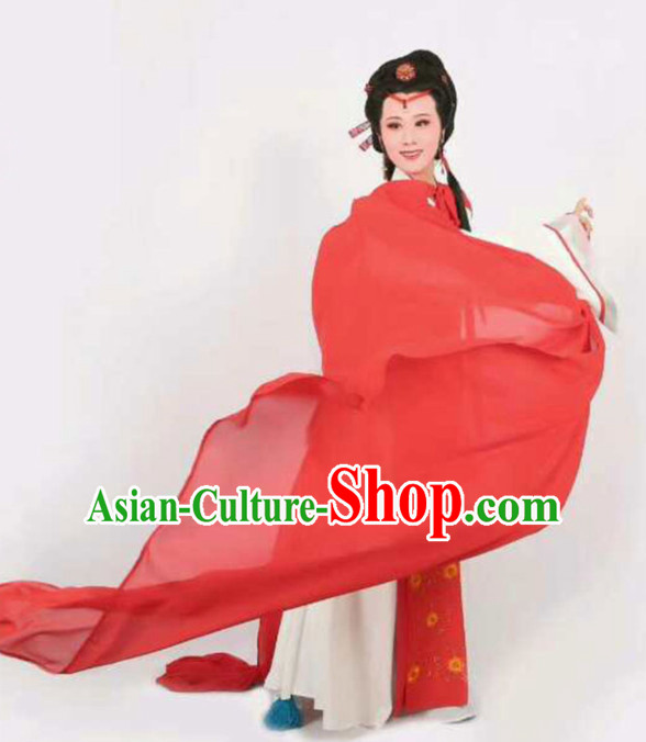 Chinese Traditional Peking Opera Diva Dress Ancient Imperial Consort Yu Ji Embroidered Costume for Women