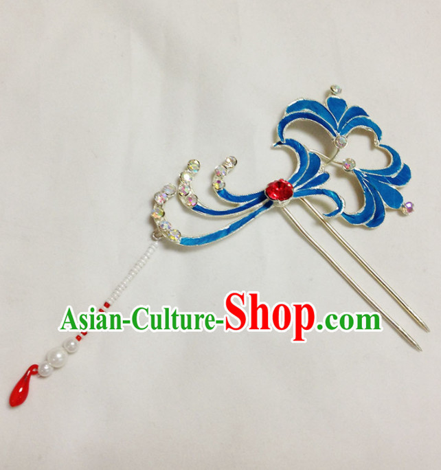 Chinese Ancient Court Princess Yulan Magnolia Hairpins Traditional Beijing Opera Diva Hair Accessories for Adults