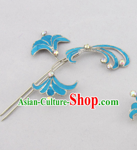 Chinese Ancient Court Princess Orchid Hairpins Traditional Beijing Opera Diva Hair Accessories for Adults