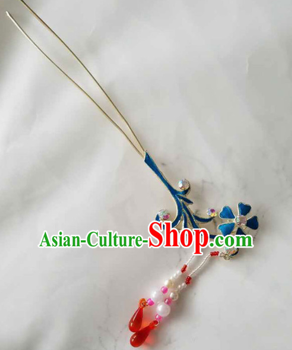 Chinese Ancient Court Princess Tassel Step Shake Hairpins Traditional Beijing Opera Diva Hair Accessories for Adults