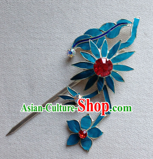 Chinese Ancient Court Princess Sunflowers Hairpins Traditional Beijing Opera Diva Hair Accessories for Adults