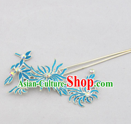 Chinese Ancient Court Princess Chrysanthemum Hairpins Traditional Beijing Opera Diva Hair Accessories for Adults