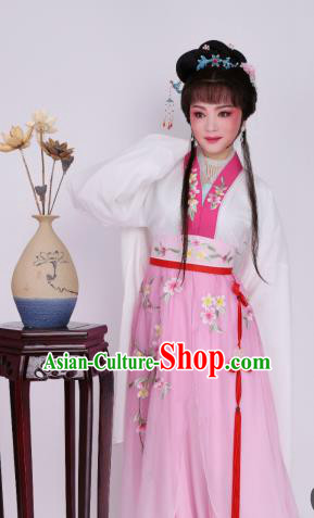 Chinese Traditional Opera Princess Pink Dress Ancient Beijing Opera Diva Embroidered Costume for Women