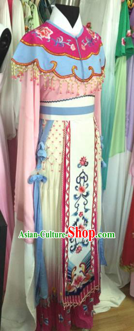 Chinese Traditional Opera Princess Water Sleeve Dress Ancient Beijing Opera Diva Embroidered Costume for Women
