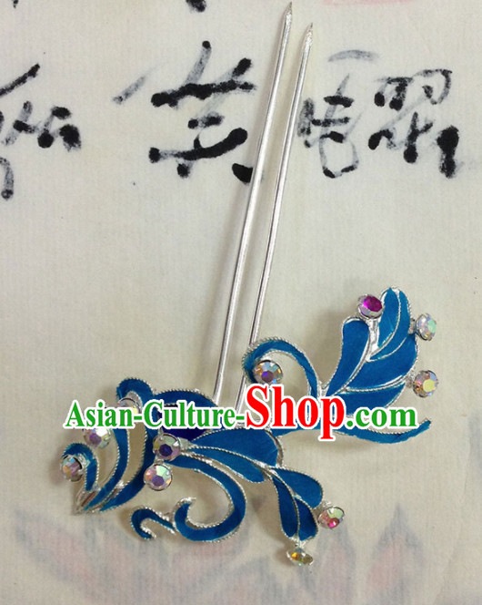 Chinese Ancient Princess Grass Hairpins Traditional Beijing Opera Diva Court Hair Accessories for Adults