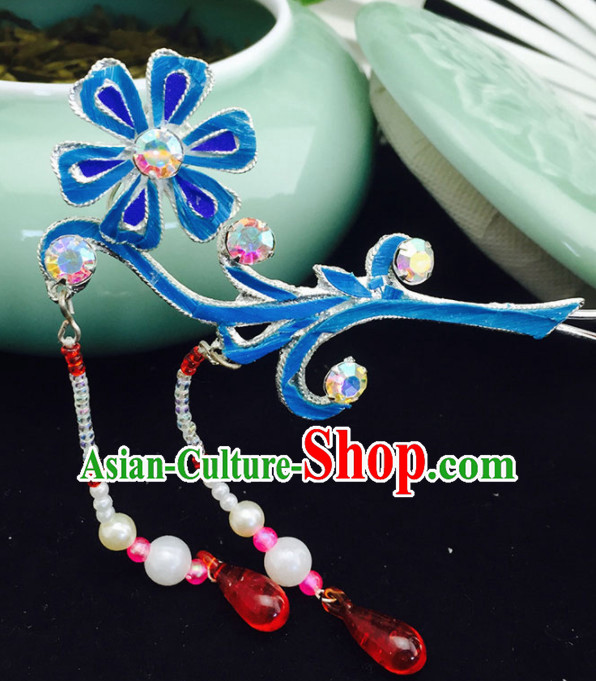 Chinese Ancient Princess Sunflower Tassel Hairpins Traditional Beijing Opera Diva Court Hair Accessories for Adults