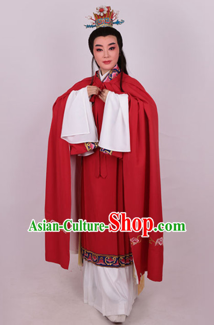 Chinese Traditional Beijing Opera Niche Red Robe Ancient Number One Scholar Costume for Men