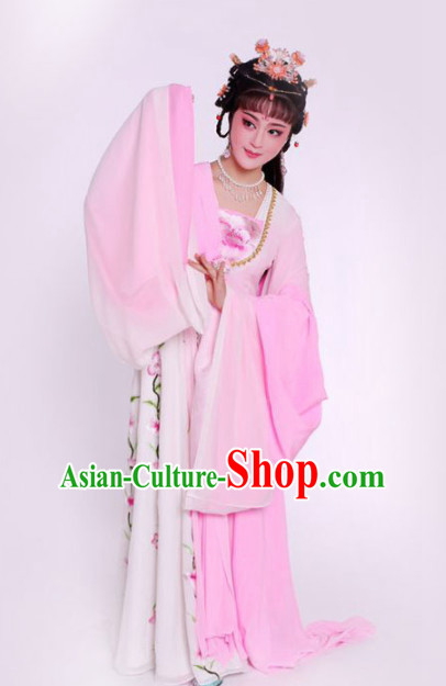 Chinese Traditional Peking Opera Diva Pink Dress Ancient Imperial Consort Embroidered Costume for Women