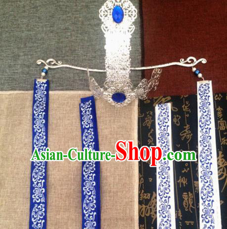 Chinese Ancient Swordsman Hairdo Crown Hairpins Traditional Hanfu Prince Hair Accessories for Men