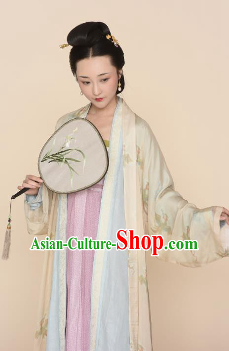 Chinese Ancient Song Dynasty Replica Costume Traditional Rich Lady Hanfu Dress for Women