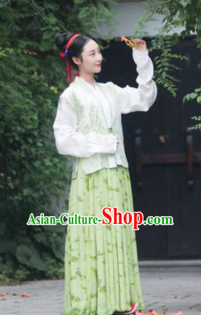 Chinese Song Dynasty Aristocratic Lady Replica Costume Traditional Ancient Court Hanfu Dress for Women