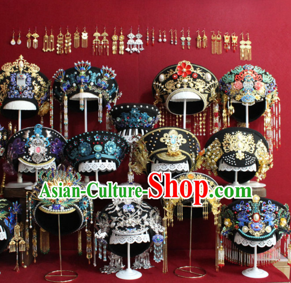 Ancient Chinese Handmade Crown Headwear Asian Imperial Hair Jewelries