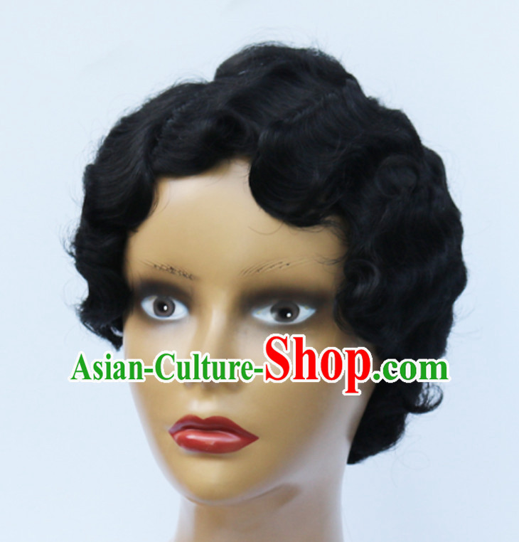 Old Shanghai Style Black Wig Asian Wigs for Women