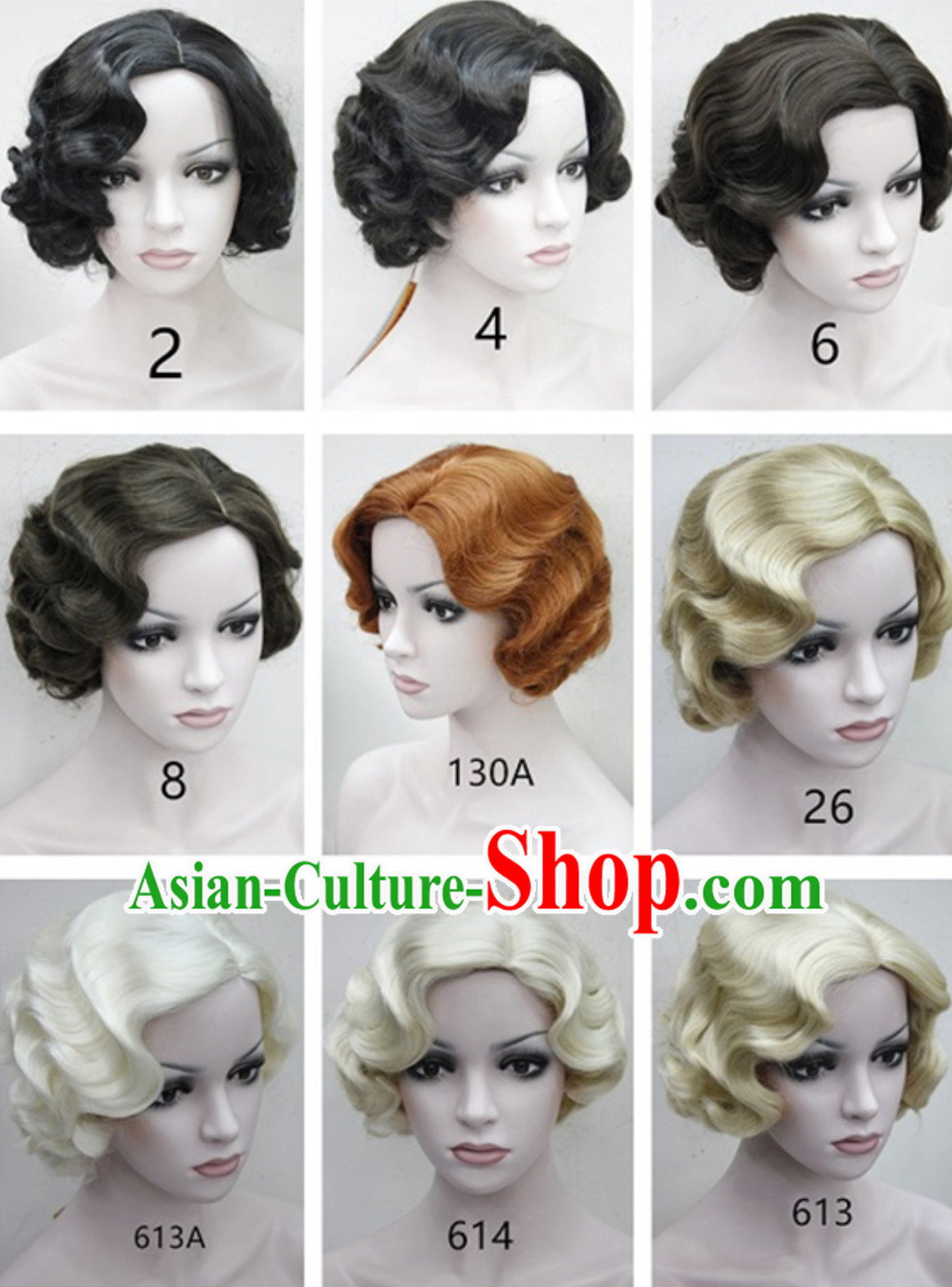 Chinese Wig Old Shanghai Style Black Wig Asian Wigs for Women