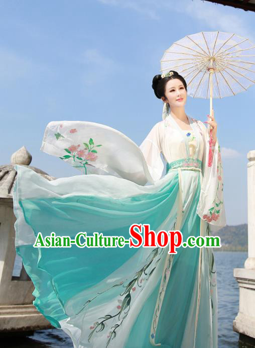 Ancient Chinese Imperial Consort Hanfu Dress Traditional Tang Dynasty Embroidered Court Replica Costume for Women