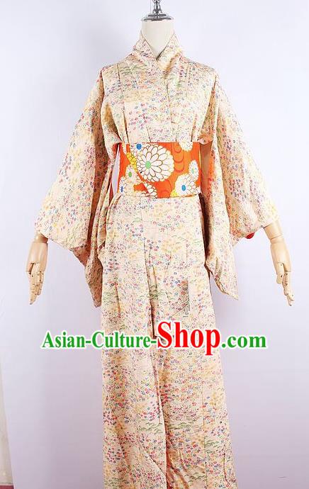 Asian Japanese Ceremony Printing Cherry Blossom Kimono Dress Traditional Japan Yukata Costume for Women