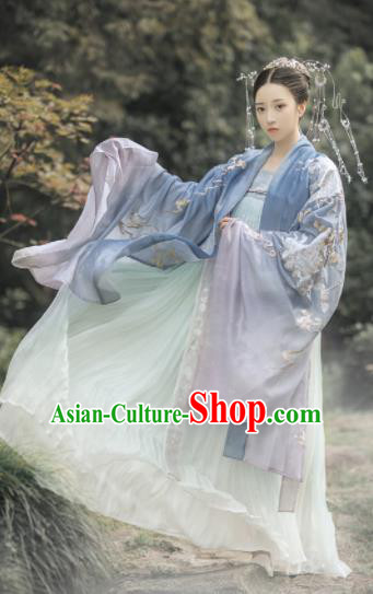 Traditional Chinese Tang Dynasty Imperial Princess Hanfu Dress Ancient Court Lady Embroidered Replica Costumes for Women