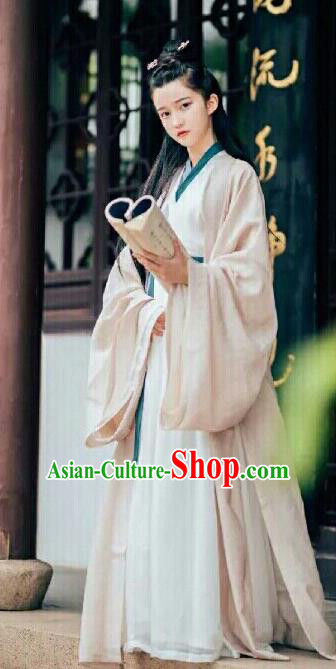 Traditional Chinese Jin Dynasty Female Swordsman Hanfu Dress Ancient Court Princess Replica Costumes for Women