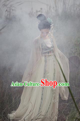 Traditional Chinese Tang Dynasty Imperial Concubine Hanfu Dress Ancient Goddess Princess Replica Costumes for Women