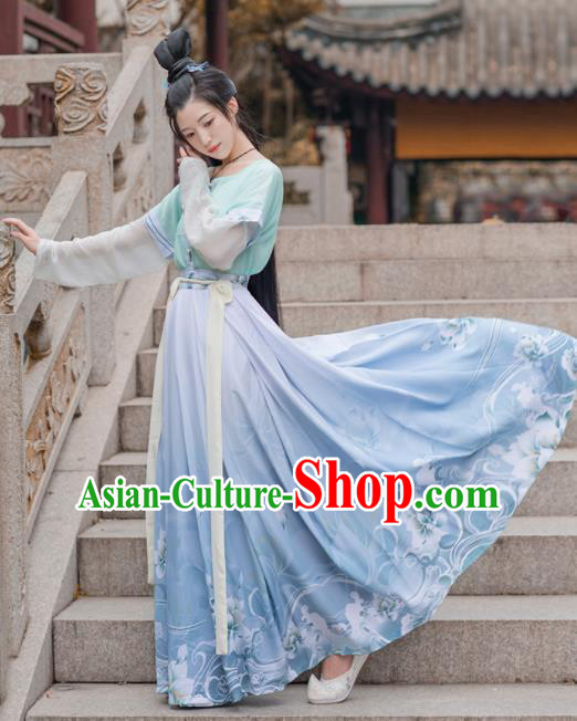 Chinese Ancient Tang Dynasty Hanfu Dress Antique Traditional Nobility Lady Historical Costume for Women