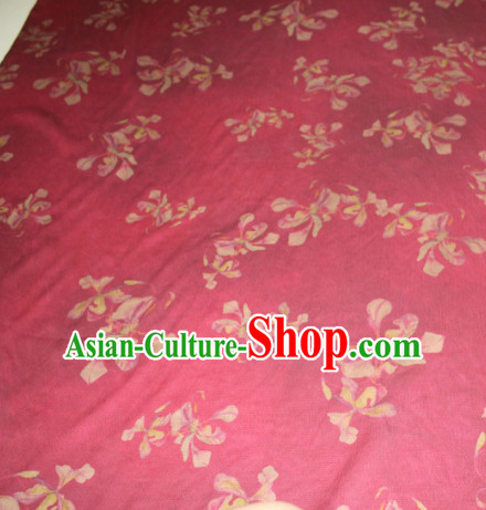 Asian Chinese Cheongsam Classical Pattern Rosy Gambiered Guangdong Gauze Satin Drapery Brocade Traditional Brocade Silk Fabric