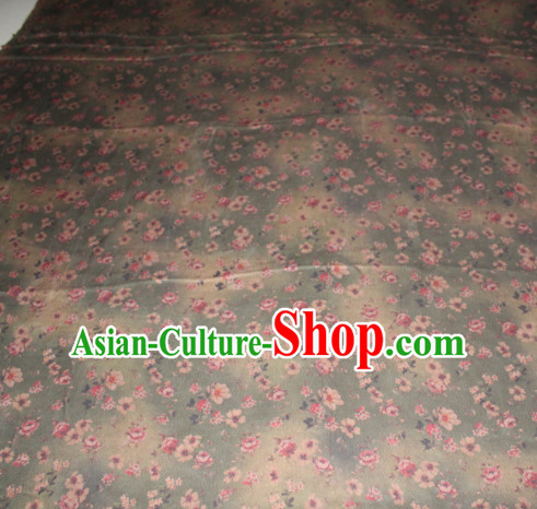 Chinese Traditional Cheongsam Classical Plum Pattern Gambiered Guangdong Gauze Asian Satin Drapery Brocade Silk Fabric