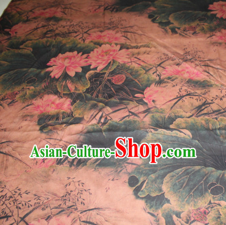Chinese Traditional Cheongsam Classical Lotus Pattern Khaki Gambiered Guangdong Gauze Asian Satin Drapery Brocade Silk Fabric