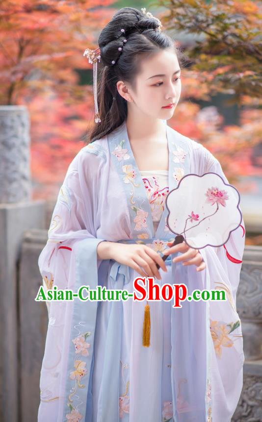 Chinese Ancient Nobility Lady Hanfu Dress Antique Traditional Tang Dynasty Court Princess Historical Costume for Women