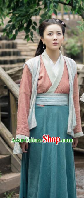 The Legend of Deification Chinese Ancient Village Women Dress Shang Dynasty Swordswoman Historical Costume