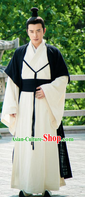 Chinese Ancient Taoism Swordsman Clothing The Legend of Deification Shang Dynasty Er Lang God Yang Jian Costume for Men