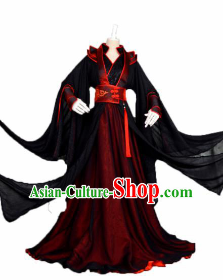 Customized Chinese Cosplay Swordsman Costume Ancient Drama Character Wei Wuxian Clothing for Men