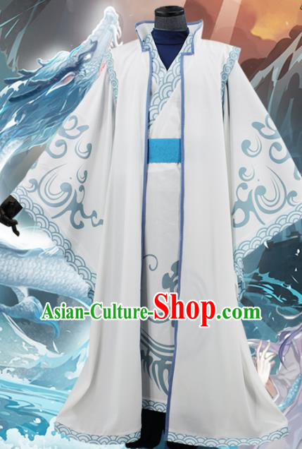 Customized Chinese Cosplay Young Hero Costume Ancient Film Ne Zha Swordsman Clothing for Men