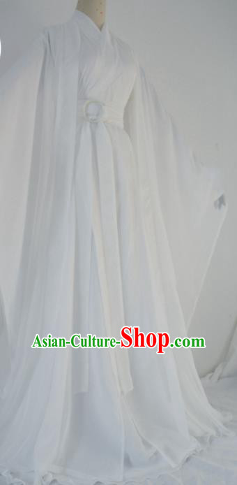 Customized Chinese Cosplay Swordsman Xie Lian White Costume Ancient Drama Childe Clothing for Men