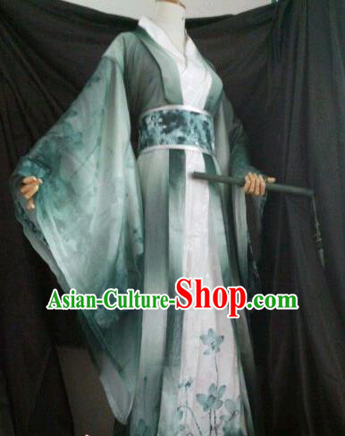 Chinese Customized Traditional Cosplay Childe Costume Ancient Drama Swordsman Clothing for Men