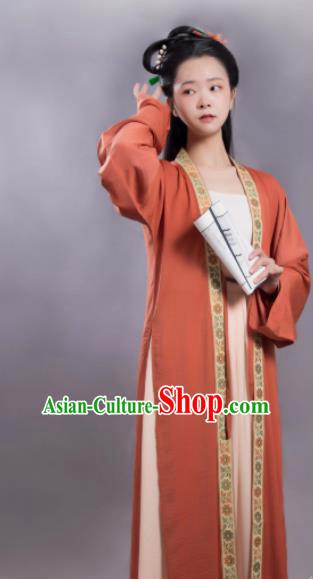 Chinese Traditional Song Dynasty Princess Hanfu Dress Ancient Court Lady Replica Costumes for Women
